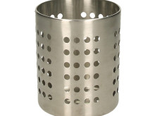Stainless steel kitchen utensil container