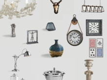 Stock of MADE IN ITALY design furnishing accessories by Dialma Brown