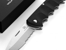 Wolfgang's FLUCTUS two-hand knife I multifunctional blade