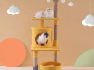 Cat Tree has Scratching Toy with a Ball Activity Centre Cat Tower