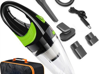 STOCK OF WIRELESS MANUAL CAR VACUUM CLEANERS 120W 1 WITH TRANSPORT BAG