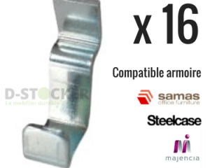 LOT CLAMPS SHELF FOR STEELCASE METAL CABINETS, SAMAS X 16