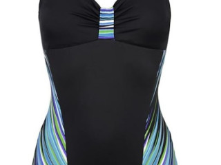 Swimsuit with decorative ruffles in the center of the chest CUP C
