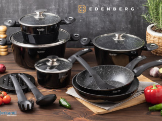 Pots, kettles, frying pans, kitchen knives from the Edenberg brand!