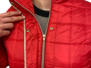 Quilted jackets women in red