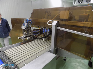 Automatic product packaging machine
