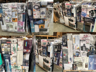 Mixed pallets Mix pallets of unchecked returned goods with household