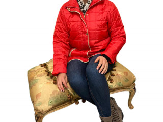 Ladies quilted jackets red