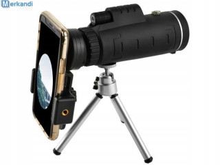 TELESCOPIC LENS ON A STAND FOR A PHONE 40x 60