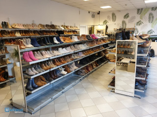 Shoe store shelves for sale 300+m2 will help with shipping.