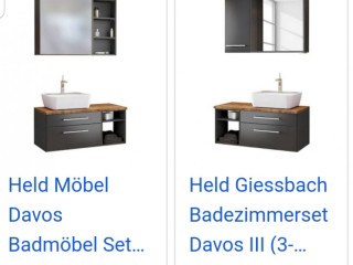 High quality furniture bathroom cabinets from HELD Made in Germany